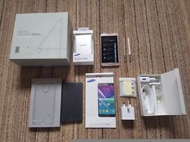 SAMSUNG GALAXY NOTE 4 GOLD, 32GB, UNLOCKED ANY NETWORK + CHARGERS + ACCESSORIES