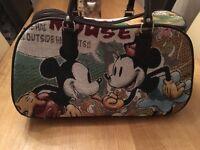 Wheelie tapestry travel bag