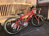 "Isla Beinn 20"" large red kids bike"