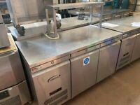 Catering equipment commercial prep fridges tables shelving sinks Stainless steel