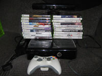 Xbox 360 Slim Gloss With Kinect - 250GB Hard Drive - 1 Wireless Controller - Leads - 20 Games