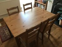 IKEA DINING TABLE CHAIRS SET PINE VINTAGE GREAR CONDITION