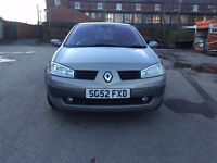 52 plate - Renault megane diesel - special edition -year mot - leather seats -