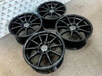 """MERCEDES 18"""" AMG STYLE ALLOY WHEELS - AVAILABLE WITH TYRES - 5 X 112 - GLOSS BLACK"""