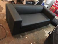 Sofa bed new order leather in black