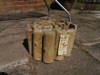 Wilko Log Rolls Garden Border Edging x 7 - £15 For The Lot