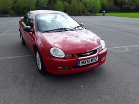 Chrysler Neon R/T 2.0 L 16v Bright Red,Bodykit,Spoiler,Low Miles,Petrol,Stamps, Air con