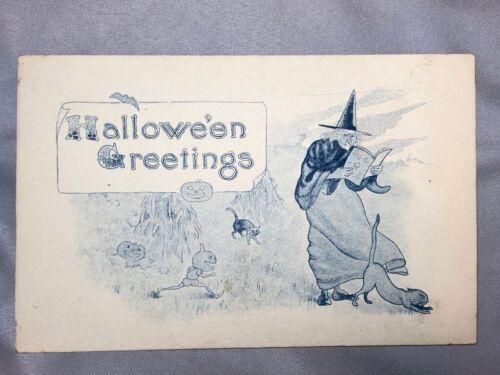 c 1910 HALLOWEEN Greetings JOL Witch GOBLINS Antique POSTCARD Samson Brothers