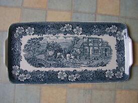 Royal Tudor Ware long plate