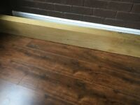 Beautiful solid oak fireplace beam/railway sleeper