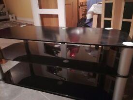 Hardened glass TV stand
