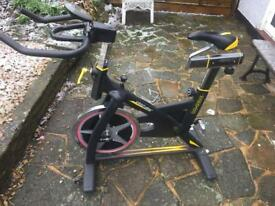 ** Spin bike with Shimano clip in pedals **