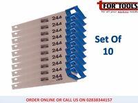 """10 x BAHCO SANDVIC 244/22 Hardpoint Handsaw 22"""" Medium Cut"""