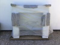Brand New Marble Fire Place- Be Modern Valencia. Includes surround,mantle shelf and back panel.