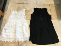 2 Gap maternity tops size small (about a 10)