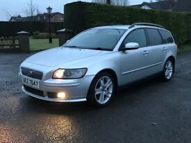 2007 Volvo V50 D5 SE Geartronic (auto) estate 180bhp, trade in considered, credit cards accepted