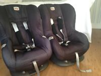 Britax Eclipse children's car seats x 2, from approx. 9 months to four years.