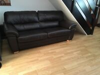 Leather sofa, And two chairs