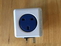 PowerCube 4 Outlets Built-In Dual Powered USB Port