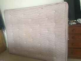 Warren Evans KingSize Mattress. 10 yrs. SpareBedroom. Used occasionally with only few signs of wear