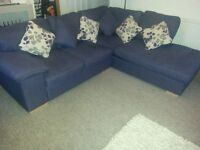 Lovely corner sofa plus scatter cushions - Can deliver too