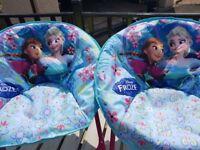 DISNEY FROZEN MOON CHAIR KIDS PADDED FOLDING BEACH CAMPING GARDEN ANNA ELSA SEAT