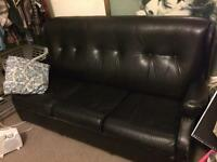 Fair condition Leather sofa bed