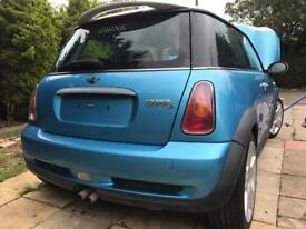 supercharged mini cooper s breaking 2002