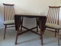 Dining Table and 2 Chairs - Ercol