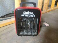 Clarke Devil 2.8kW fan heater