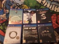 Ps 4 games for sale .