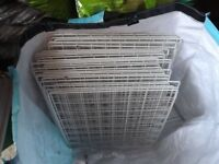 66 used cc cage panels with connectors, and 2 pieces of black coroplast £90 - great for guinea pigs
