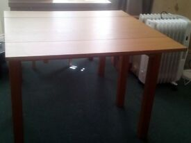 Small extending dining table
