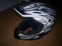 childs moto cross helmet