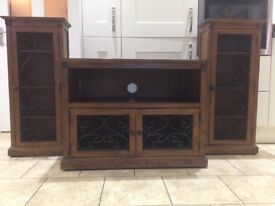 Solid wood living room furniture set of three pieces