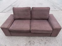 IKEA KIVIK TWO SEATER STYLISH COMPACT TULLINGE DARK BROWN SOFA (I CAN DELIVER TODAY)