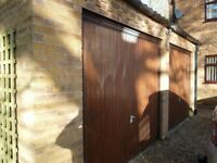 A Pair of Up & Over wood Garage doors ( Garador)