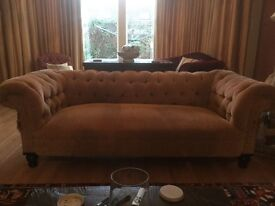 3 seater Victorian buttoned sofa