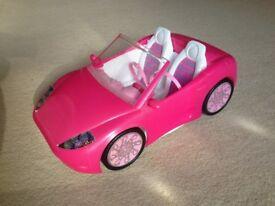 Barbie doll convertible car
