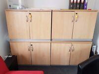 Lockable cupboards x 4