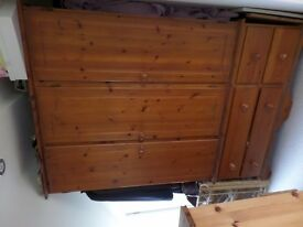 Solid Pine Triple wardrobe and drawers
