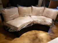 Brand new rattan half moon sofa