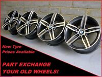 "1823 Genuine 17"" BMW 379 1 Series F20, 2, 3 Series Polished Alloy Wheels"