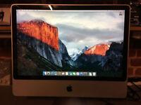 "Apple iMac 24"" 4gb ram 500gb hd"