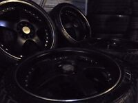 "18"" LENZO deep dish ALLOYS wheels 5x100/112 multifit bora seat leon audi vw golf t3 a3 caddy t4 tt"