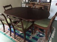 Dining table and 6 chairs (antique cheery wood) beautiful condition - £125.00 ONO