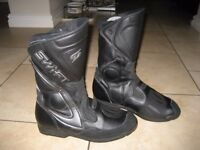 Mens Swift leather Waterproof motorcycle boots size 10