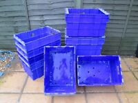 HEAVY DUTY 80L LITRE STACKABLE STORAGE TOTE BOXES REMOVAL STORAGE MOVING
