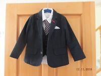 Mamas and Papas 4 piece set - Jacket, Shirt, Wasitcoat and Tie 3-4 years
