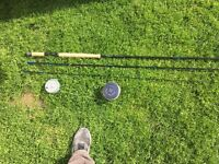 Brand new Orvis salmon rod with Hardys Marquee no 1 reel